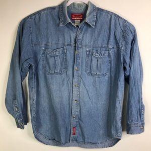 Marlboro Country Store Chambray Button Shirt